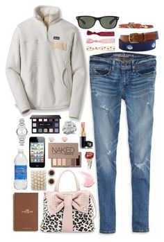 """""""Lena - $10,793.00"""" by shazellove ❤ liked on Polyvore featuring American Eagle Outfitters, Patagonia, Betsey Johnson, Fantasy Jewelry Box, Burberry, Coach, Ray-Ban, Bare Escentuals, Ted Baker and Twistband"""