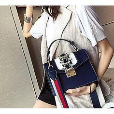 83b7c1e7c [$22.99] Women's Bags PU(Polyurethane) Shoulder Bag Zipper White / Black /  Red