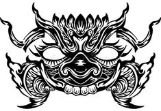 Khmer Tattoo, Thai Tattoo, Neo Tattoo, Mask Tattoo, Thailand Tattoo, Thailand Art, Black Ink Tattoos, Tribal Tattoos, Ak47 Tattoo