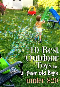 Summer is finally here, so time to get your little guy out in the fresh air! All the toys on this list are inexpensive and well worth adding to your arsenal of outdoor tricks!