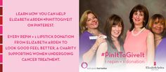 #PinItToGiveIt with us! 1 repin = 1 lipstick donation to women battling cancer look & feel better.