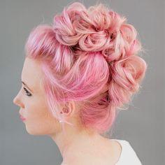 Pink Mohawk Updo