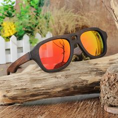 Handmade Polarized Wooden Sunglasses With Black Frame in Wooden Box Wooden Sunglasses, Mirrored Sunglasses, Polarized Sunglasses, Oakley Sunglasses, Handmade Design, Wooden Boxes, Eyewear, Gift Ideas, Free Shipping