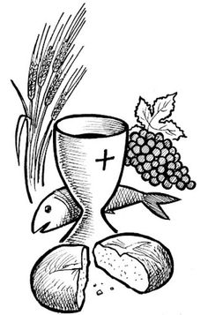 John Chapter 6 Jesus is the true bread of life.you need not to hunger. Cross Coloring Page, Coloring Pages, Mary Peters, Church Banners, Religious Education, Bible Crafts, Corpus Christi, First Communion, Christian Art