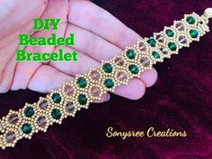 How Perlen Armband machen - YouTu . Making Bracelets With Beads, Beaded Bracelets Tutorial, Beaded Bracelet Patterns, Beading Patterns, Silver Bracelets, Handmade Bracelets, Diy Bracelet, Pearl Bracelet, Silver Ring