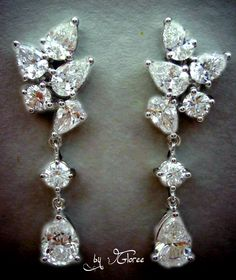 Diamond Earrings See more stunning jewelry at http://RadiantRings.net! #jewelry