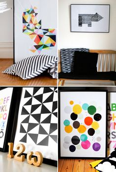 little-studio-prints    Loving the color, shapes and textures. So fun.    #color #texture #pattern #shapes