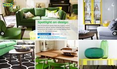 Spotlight on design... I think if I added green chairs to my kitchen table it'll make my day. Hmmm...