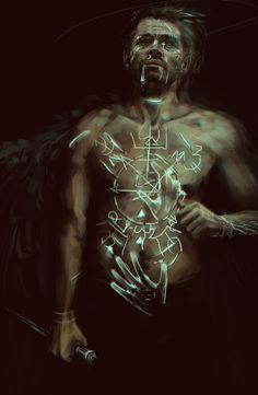 I am an angel. I have grace #castiel #spn #fanart