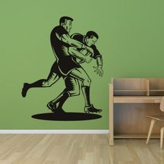 Rugby Tackle Sports and HObbies Wall Decal Wall Art Stickers - Sports Hobbies