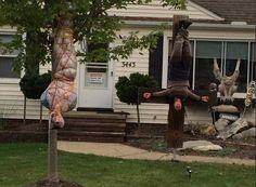 Neighbors say Halloween display crosses line.