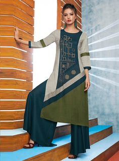 Buy Teal Viscose Readymade Kurti 130674 online at lowest price from our mens indo western collection at m.indianclothstore.c.