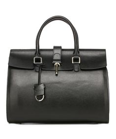 Another great find on #zulily! Black Caine Leather Tote by Vicenzo Leather #zulilyfinds