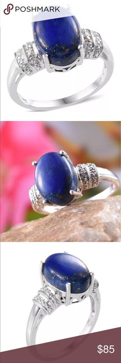Lapis Lazuli Sterling silver ring Size 7 natural, untreated lapis lazuli ring set into 925 Sterling Silver Jewelry Rings