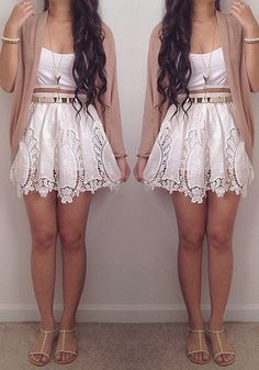 Crochet Cut Out Skirt - Sweet Cutout Bottom