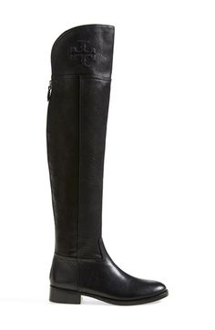 Free shipping and returns on Tory Burch 'Simone' Over the Knee Boot (Women) at Nordstrom.com. Immaculate topstitching outlines a soaring over-the-knee boot branded with an embossed logo medallion.