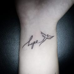 Hope And Flying Dove Tattoo