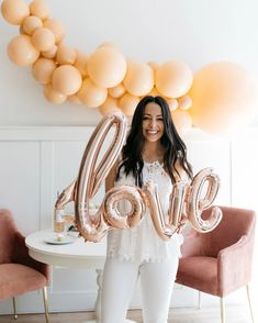 40in Rose Gold Love Script — Paris312 Wedding Bells, Wedding Day, Love Balloon, Love Rose, Foil Balloons, The Perfect Touch, Tie The Knots, Marry Me, Rose Gold