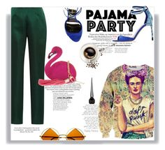"""Green + Blue + Pink + Orange"" by railda-pereira ❤ liked on Polyvore featuring Katie Ermilio, Emilio Pucci, H&M, Skinnydip, Christian Louboutin and Retrò"