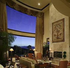 The window and curtain combo is interesting here. Love it! #PugetSoundWindow #Windows