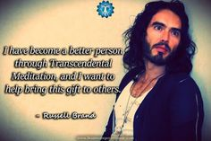 "On Transcendental #Meditation: ""...I want to help bring this gift to others."" - Russell Brand #quotes #celebrity #TranscendentalMeditation"