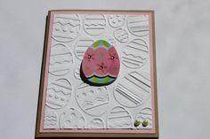 Easter Egg Card Embossed by RoyalRegards on Etsy, $3.25