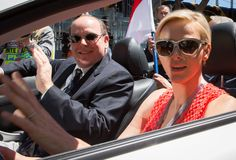 MAY 2013    Princess Charlene and Prince Albert attend the Monaco Grand Prix and its Gala dinner - Photo 4 | Celebrity news in hellomagazine.com