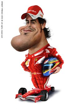 Pinned using PinFace! Funny Caricatures, Celebrity Caricatures, Famous Cartoons, Funny Cartoons, Mick Schumacher, Caricature Drawing, Wtf Face, Funny Illustration, Sports Stars