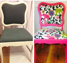 Before/After: Funky Pink Chair