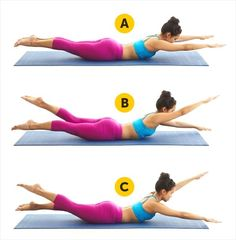 Air Swimming - The best five exercises for a slim waist you can do at home