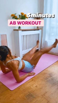 Gym Workout For Beginners, Fitness Workout For Women, Workout Videos, Fitness Tips, Fitness Motivation, Extreme Workouts, Easy Workouts, Okinawa, 5 Minute Abs Workout