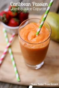 Caribbean Passion Jamba Juice Smoothie Copycat