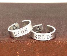 Link und Zelda Ring Set  Triforce  beste von fromtheinternet