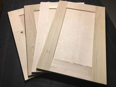 If you are wanting to update your kitchen cabinets, or add a kitchenette, building your own DIY flat panel cabinet doors is a great option. The best part is that you can build cabinet doors with just a table saw and a couple saw blades. - My Home Decor Diy Cupboard Doors, Diy Cupboards, Plywood Cabinets, Built In Cabinets, Kitchen Cabinet Doors, Cheap Cabinet Doors, Reface Cabinet Doors, Building Cabinet Doors, Hickory Cabinets