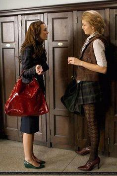 "Serena and Blair _ school. Season 2 Episode 11 ""The Magnificent Archibalds""."