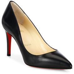 03b2fd5f5f7c Christian Louboutin Pigalle 85 Nappa Shiny Leather Pumps (387.385 CRC) ❤  liked on Polyvore