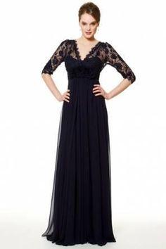 Вечернее кружевное платье с длинным рукавом