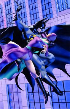 Batman and Catwoman by Mike Mayhew