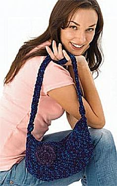 Free Crochet Pattern: Blooming Bag by Lion Brand Yarn