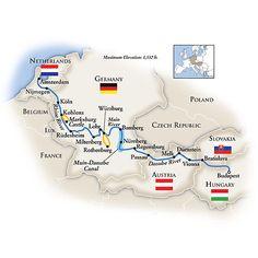Tauck Danube River Cruise, Amsterdam to Budapest. Oh yeah!!!