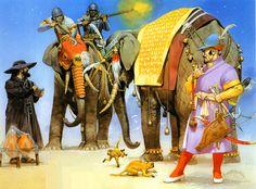 Akbar's Mughal war elephants, late 16th–early 17th centuries