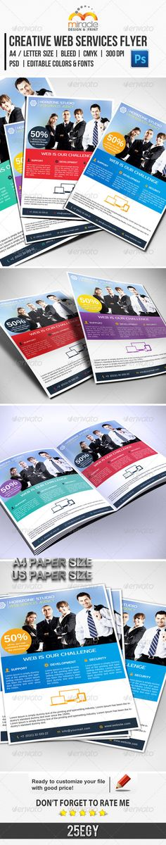 Creative Web Services Flyer :  check out this #creative #great #design #flyer #graphicriver #item 'Creative Web Services Flyer' http://graphicriver.net/item/creative-web-services-flyer/6285735?ref=25EGY