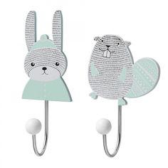 Bloomingville Mini Hooks 2PK Beaver / Rabbit