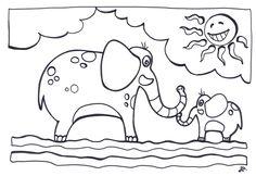 Elefanti e sole