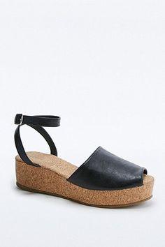 cork sole sandals