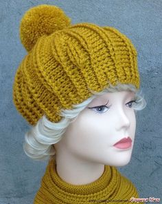 New crochet beanie hat infinity scarfs ideas Crochet Headband Free, Crochet Baby Bibs, Crochet Beanie Hat, Crochet Cap, Beanie Hats, Knitted Hats, Crochet Blanket Edging, Cl Fashion, Cable Knit Hat