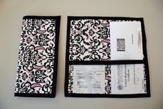 Registration and Insurance Card Organizer Tutorial Ten Cow Chick going to alter this a little but this is exactly what I was looking for Sewing Crafts, Sewing Projects, Diy Crafts, Sewing Ideas, Craft Projects, Sewing Patterns, Assurance Auto, Organizing Paperwork, Diy Organization