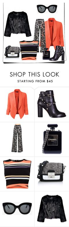 Having fun by studiostiletto on Polyvore featuring mode, Ted Baker, LE3NO, Alice + Olivia, Valentino, Chanel, Karl Lagerfeld, CÉLINE, women's clothing and women's fashion