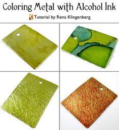 Colorear metal con alcohol tinta (Tutorial)