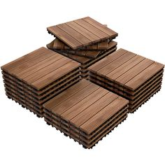 12 x 27 PCS Patio Pavers Interlocking Wood Tiles Wood Flooring Tiles Indoor & Outdoor For Patio Garden Deck Poolside, Beige Diy Deck, Diy Patio, Budget Patio, Indoor Outdoor, Outdoor Living, Outdoor Flooring, Outdoor Pavers, Deck Flooring, Pavers Patio